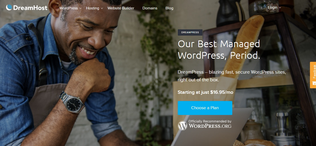 dreamhost dreampress managed wordpress hosting woblogger recommended