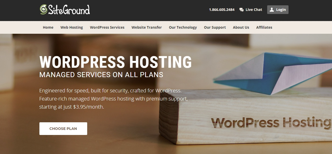 siteground managed wordpress hosting woblogger recommended