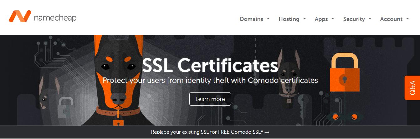 namecheap ssl certificates