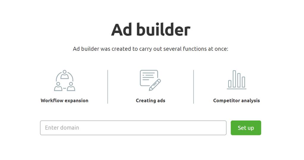 semrush ad builder