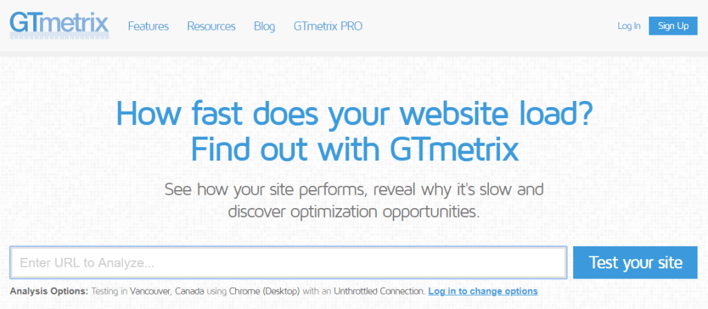 how fast does your website load gtmetrix
