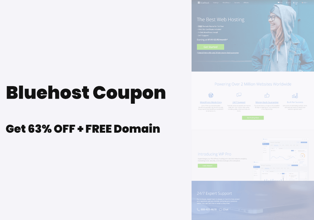 Bluehost coupon promo code 2.95 discount link