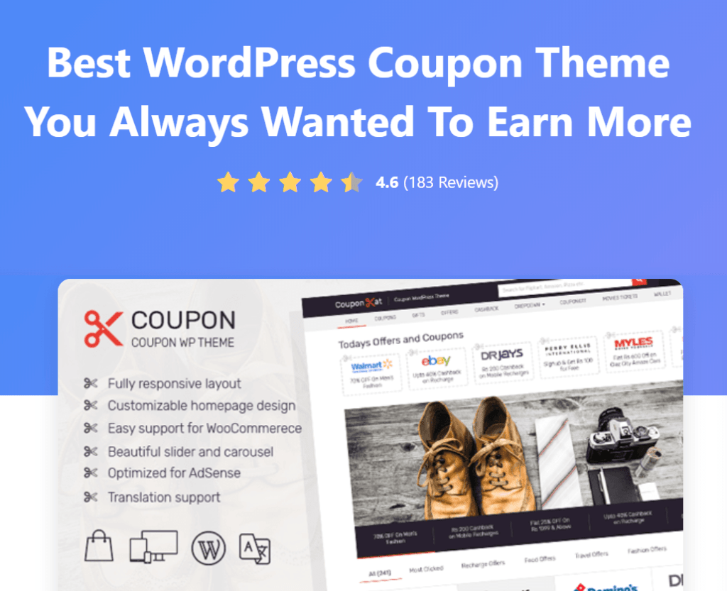 Coupon theme for coupon blogs
