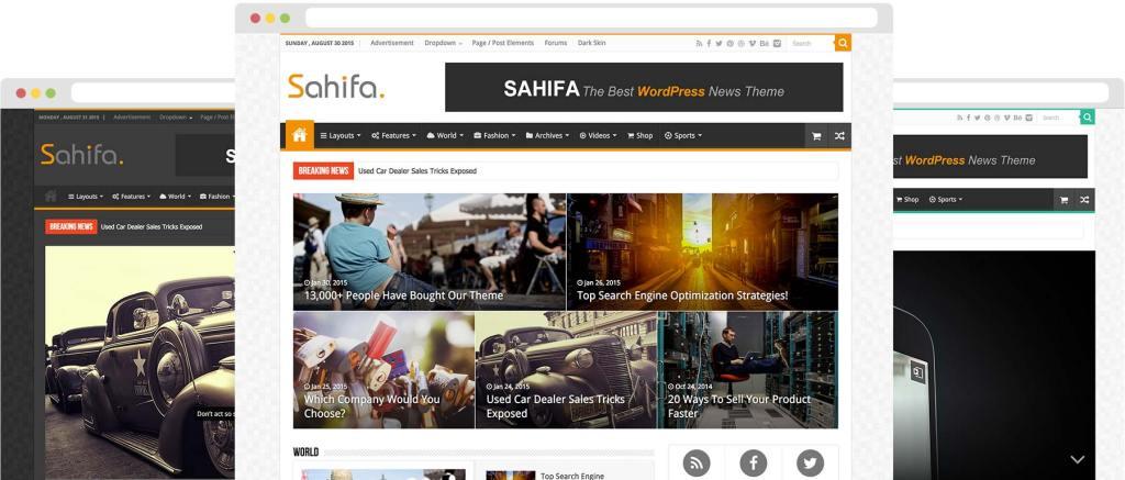 Sahifa Blog Magazine theme