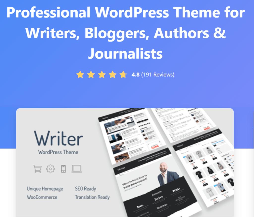 writer professional writing theme