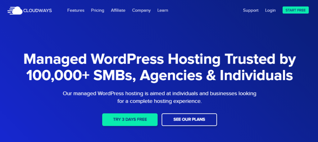 Cloudways Managed WordPress Hosting Trusted by 100,000+
