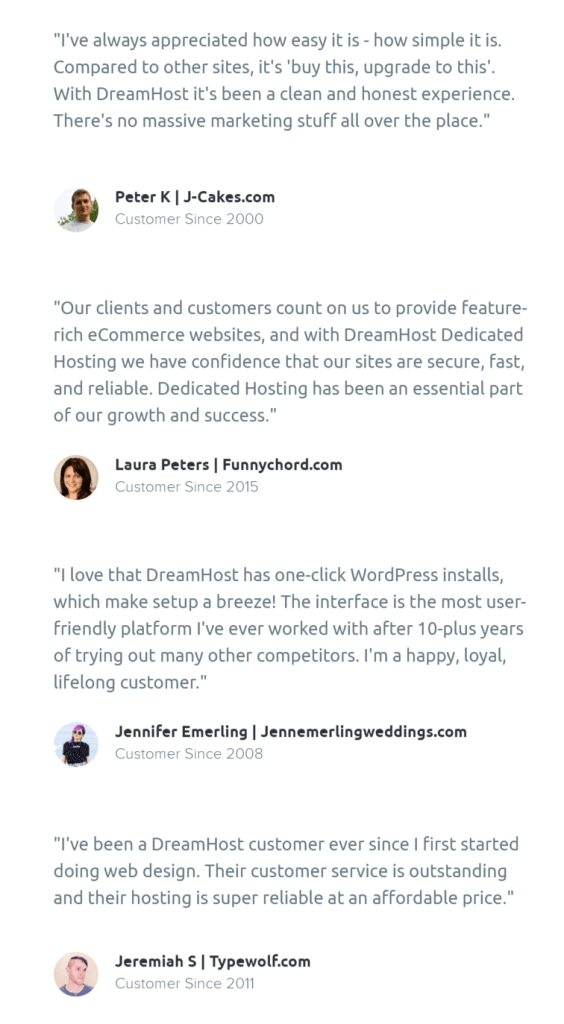 Dreamhost user reviews