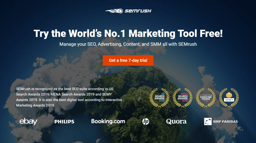 Try the World's No.1 Marketing Tool Free!