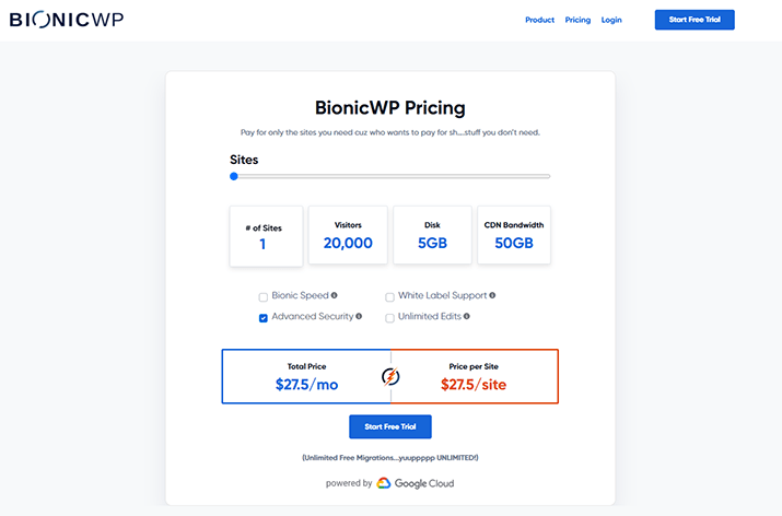 Bionic WP Promo code pricing plans