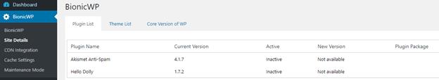 Bionic WP WordPress Admin Panel
