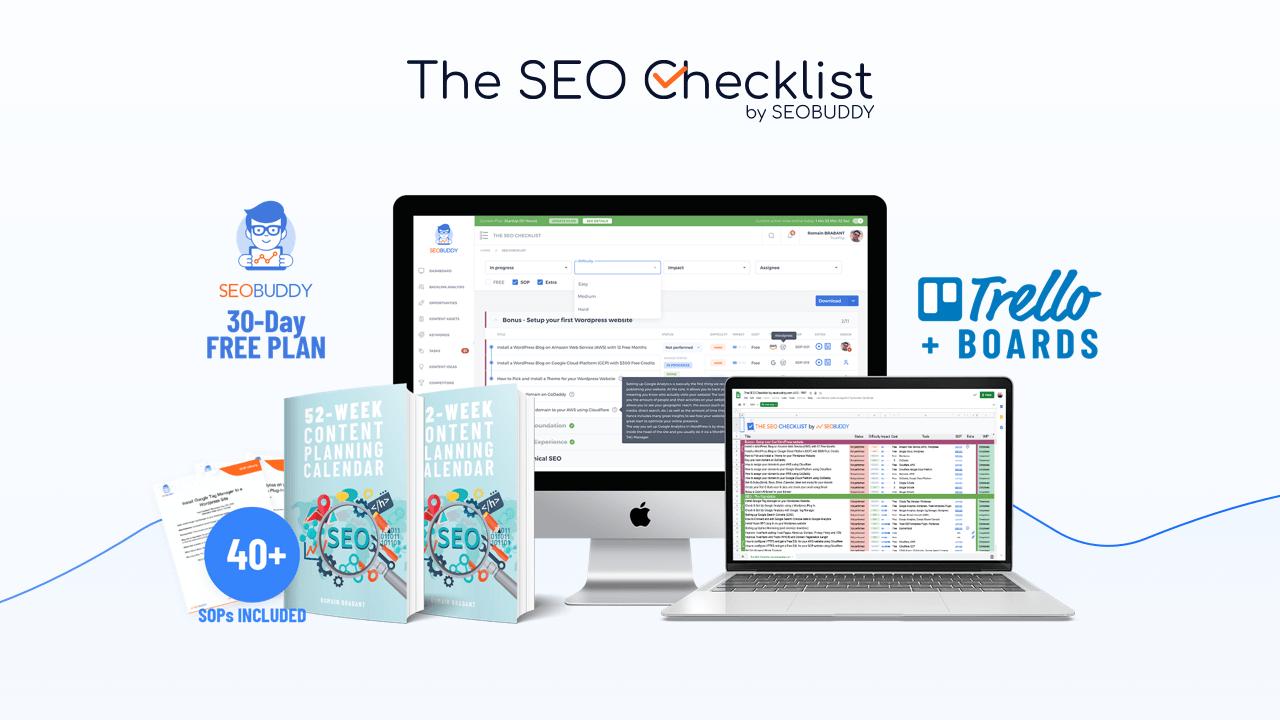 What If SEO Was as Easy as Following A Checklist thw seo checklist by seobuddy
