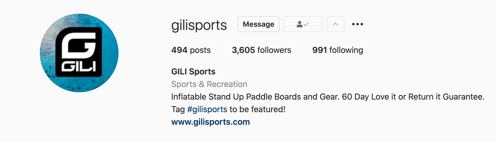 GILI a company that manufactures inflatable stand-up paddleboards