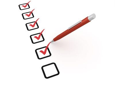 Picture of a Checklist