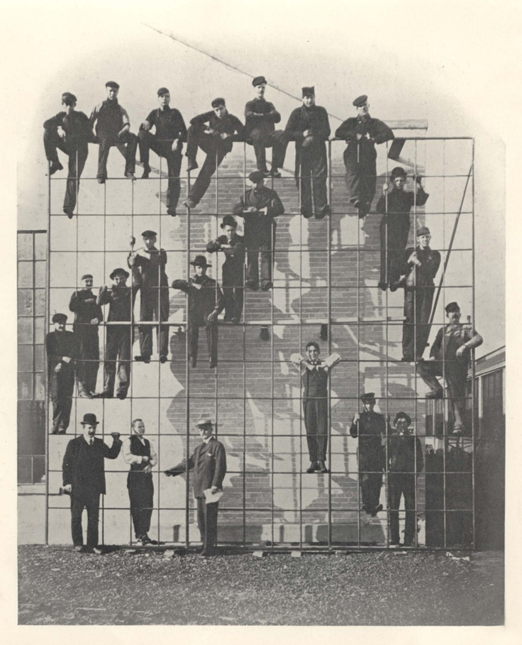 Men of Steel - Crittall workers demonstrating the strength of the Fenestra joint. Try doing that with an aluminium or plastic window