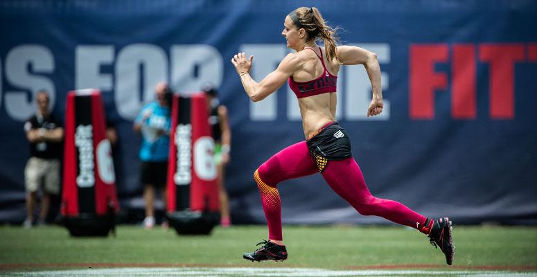 Une crossfitteuse sprint aux CrossFit ®* games
