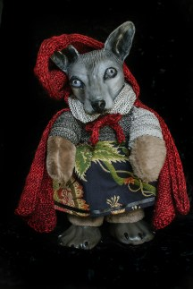 Wolf in Red Riding Cape Doll