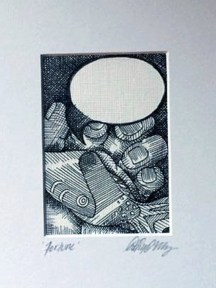 "FORTUNE | 2011 | pen and ink art card, 2.5"" x 3.5"""