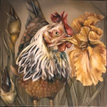 COMMISSIONED HEN PORTRAIT WITH IRIS | 2017 | oil on canvas