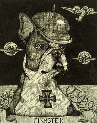 "FINNSTER | 2005 | pen and ink on paper, 9"" x 11"""