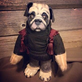 Commissioned Pug Doll, 'Duke'