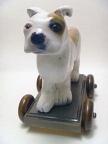 WOODY THE PIT BULL PULLTOY