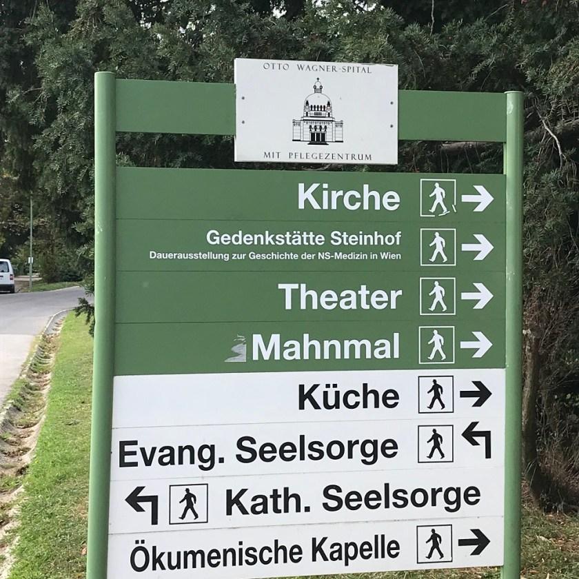 Wegweiser Otto-Wagner-Spital
