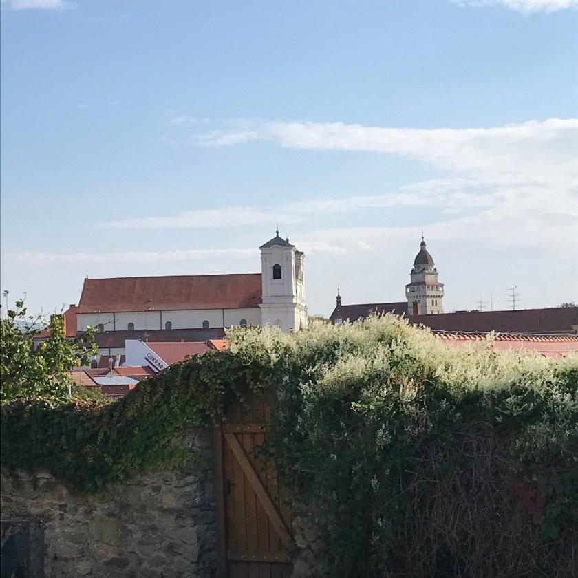 Blick von der Rotunde auf Skalica