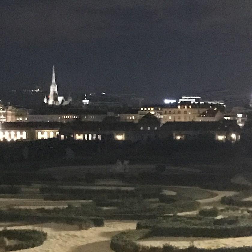 Blick vom Oberen Belvedere auf die Stadt
