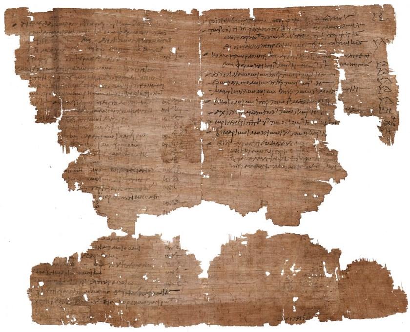 Verzeichnis von Ausgaben an Wein; Papyrus Griechisch, Ägypten, 21. April 321 n. Chr. – © Österreichische Nationalbibliothek