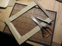 Rahmen aus Pappe