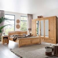 Landhaus Komplett Schlafzimmer Set aus Kiefer Massivholz ...