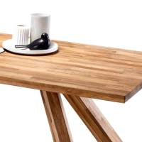 Massiver Holztisch aus Eiche 200x100cm Runiera   Wohnen.de