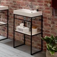 Offener Waschtisch mit Becken im Loft Stil mit 50 cm ...
