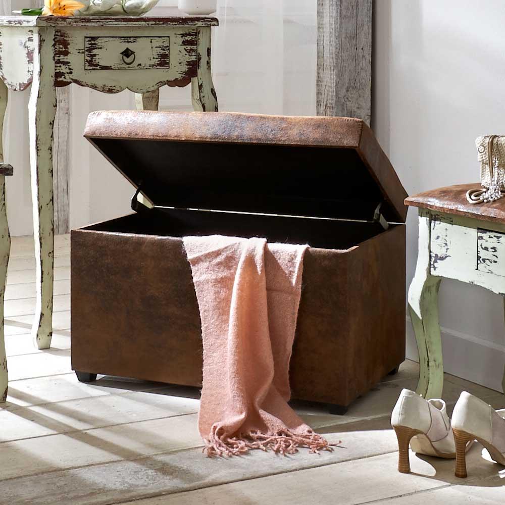 Truhe Sonna Zum Sitzen Im Vintage Design Wohnende