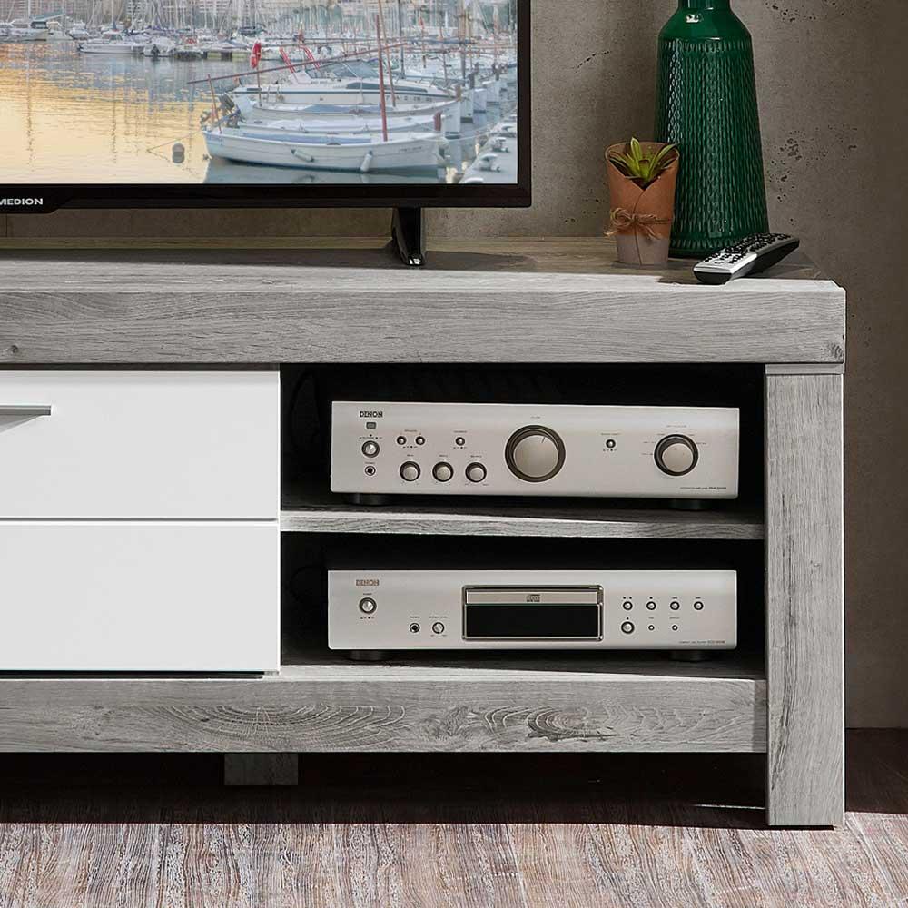 tv board mit led licht lopalo 150 cm breit