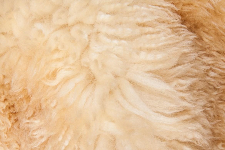 Lammfell ist sehr fluffig