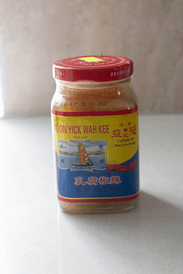 Fermanted bean curd in a jar