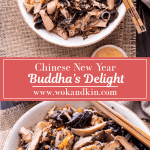 Buddha's Delight in a bowl with chopsticks