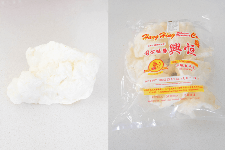 Fish Maw In and Out of Packet