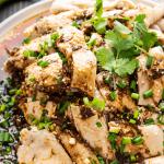 Saliva Chicken on a plate