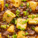 Mapo Tofu with Pork Mince in a bowl