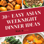 Asian dishes on a poster.