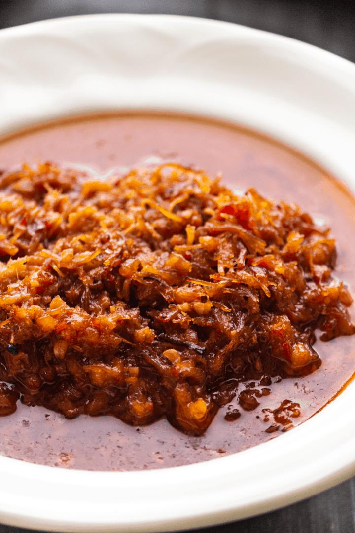 XO Sauce in a dish.