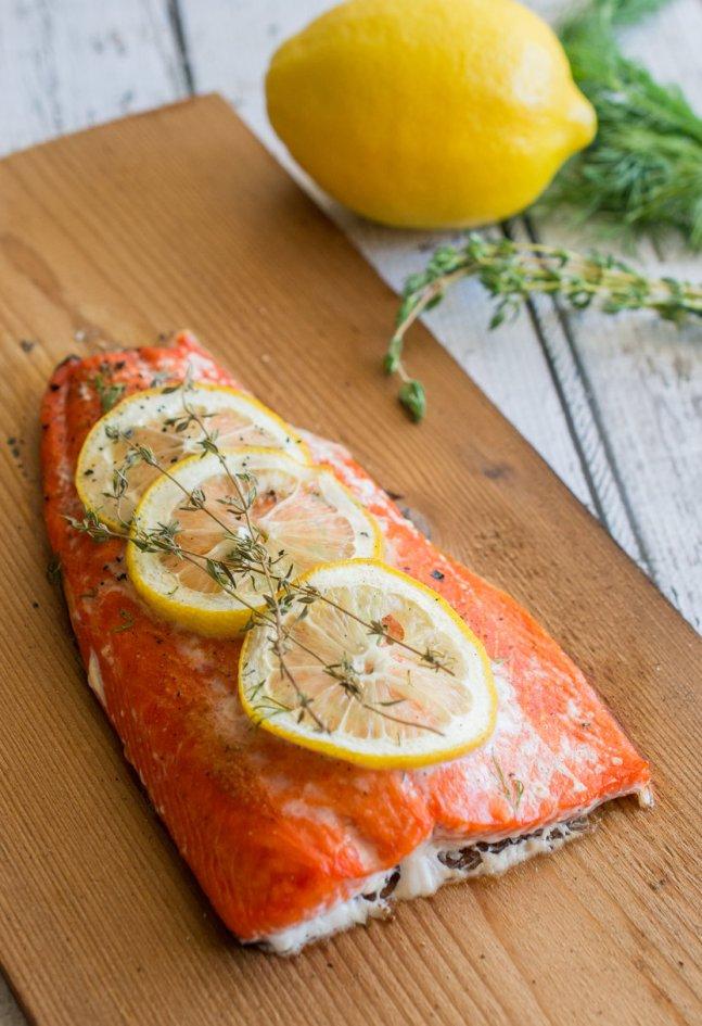 Cedar Plank Salmon - wokandskillet.com