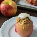 Apple Crisp Baked Apples are a fusion between the classic Apple Crisp and Baked Apple. Warm, tender baked apple topped with a delicious crunchy crisp. Serve with vanilla ice cream for an over-the-top dessert that everyone will love.