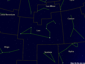 Labelled constellation of Leo.