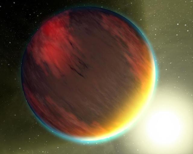 Artist rendition of a hot Jupiter.