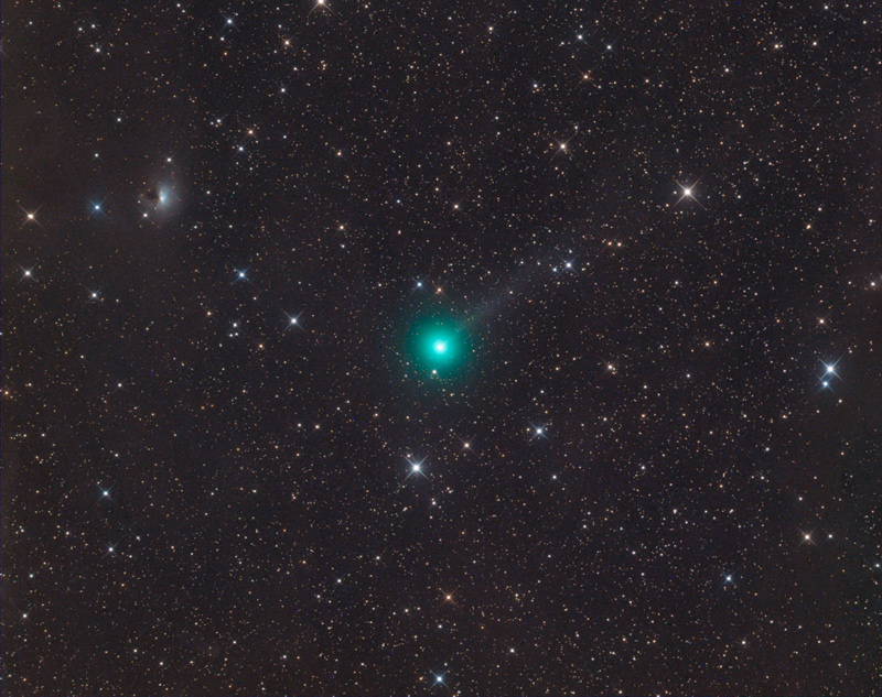 Comet NEOWISE from space.