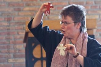 Pfarrerin Helga Wemhöner 2011 in der Christuskirche Wolbeck. Foto: A. Hasenkamp, Fotograf in Münster.