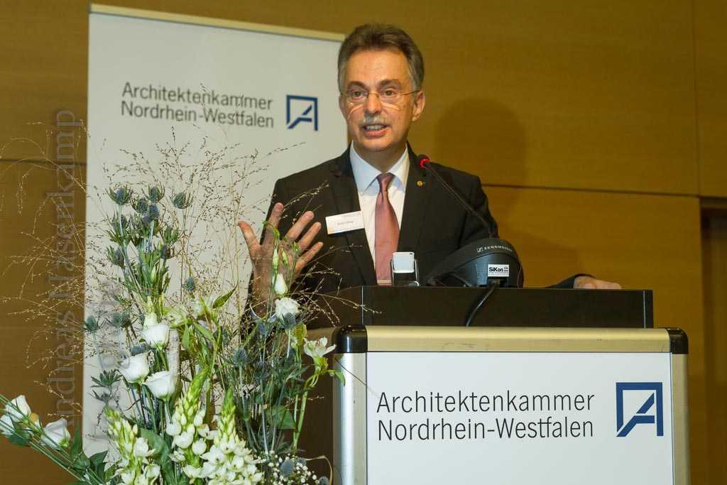Ernst Uhing, Präsident der AKNW. Foto: A. Hasenkamp, Fotograf in Münster.